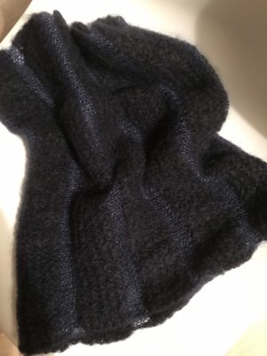 Handmade Knitted Scarf dark blue-blue