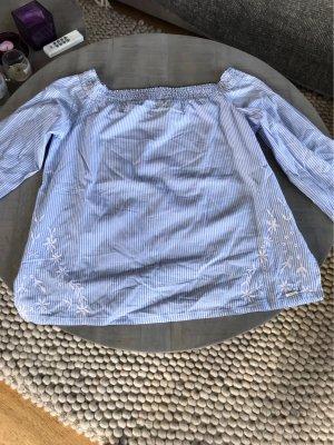 Woolrich Bluzka typu carmen biały-błękitny