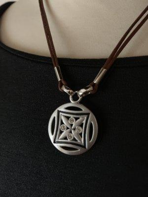 Sehr hübsche Collierkette mit Glitzersteinen