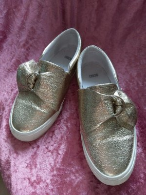 Asos Slip-on Shoes gold-colored-white