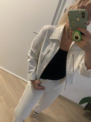 Sehr hübsche weiße Jacke mit Reißverschluss 97% Baumwolle - neu
