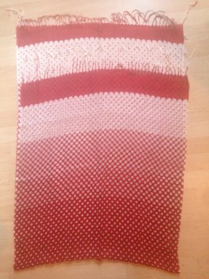 Crinkle Scarf white-brick red cotton