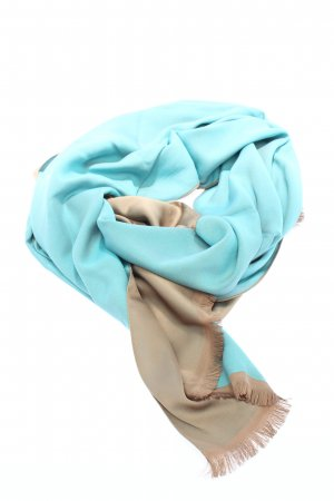 Sehr-i Sal Pashmina blue-brown casual look