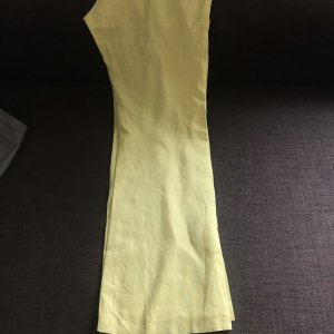 Pantalon en lin jaune primevère-jaune clair