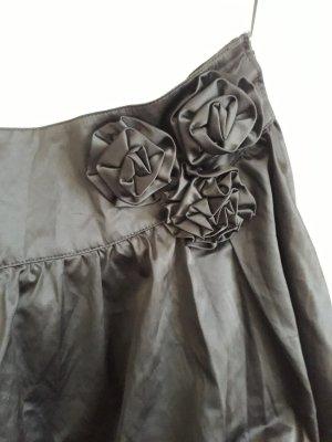 Falda globo negro tejido mezclado