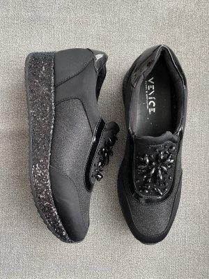 Venice Wedge Sneaker black