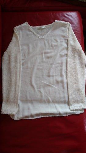 Lavand Maglione con scollo a V argento-bianco sporco