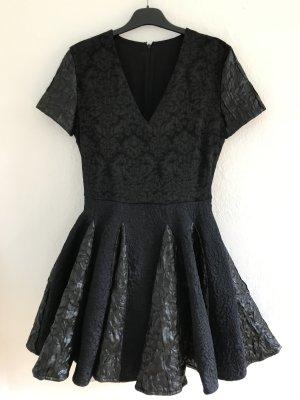 Vestido con enagua negro Algodón