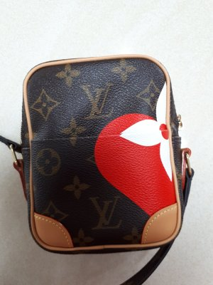 1-One Handbag bronze-colored-red leather