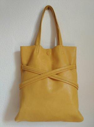 Sehr schöne Campomaggi Leder Schultertasche gelb Sommerlich!