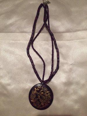 Collier Necklace dark violet-gold-colored