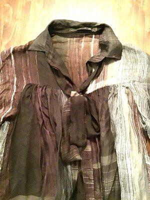 Sehr schöne & federleichte Bluse von ZARA mit Schleife / Krawatte für  Business / Abend