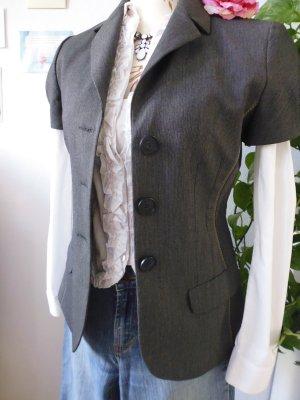 Apriori Blouse Jacket anthracite-taupe mixture fibre