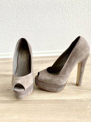Sehr schöne High Heels aus echtem Veloursleder.