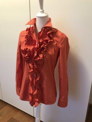 Sehr schöne, hochwertige Baumwoll-Bluse mit Rüschen von Seidensticker