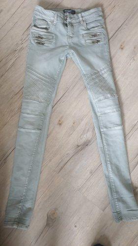 Haily's Jeans vita bassa verde-grigio
