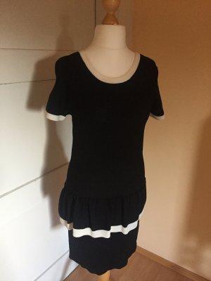 Vestito peplo nero-bianco