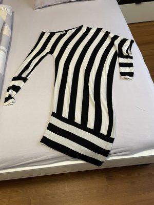 Object collectors item Peplum jurk wit-zwart