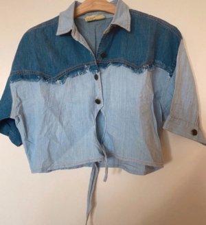 Z One Bluzka jeansowa stalowy niebieski-błękitny