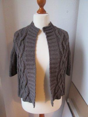 Cardigan light brown-grey brown wool