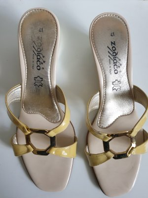 sehr schöne  Leder Flip Flop Sandalen Gr.41von Zodiaco
