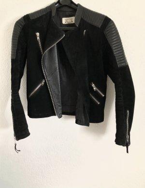 Mango Veste motard noir cuir