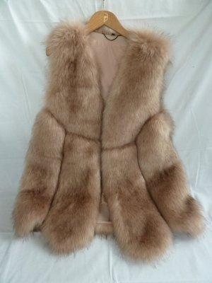 Fake Fur Vest rose-gold-coloured polyester