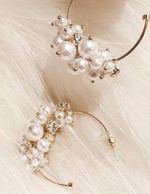 Sehr schöne Ohrringe Perlen Strass Neu mit Etikett