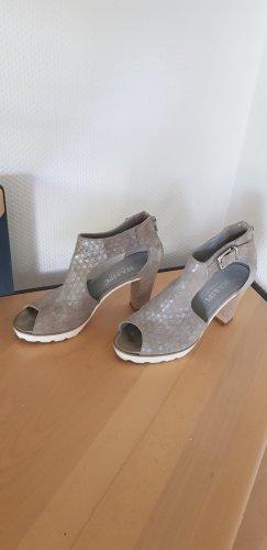 Maripé Bottines à plateforme argenté-gris brun cuir
