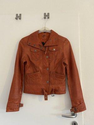 Sehr schöne rostrote Lederjacke der Marke Gipsy in Größe S !