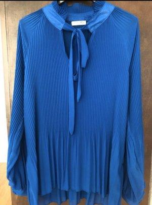 Sehr schöne Royal blaue Chiffon Bluse von Zabaione zu verkaufen