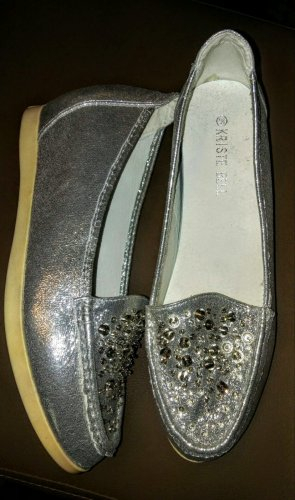 Scarpa slip-on argento