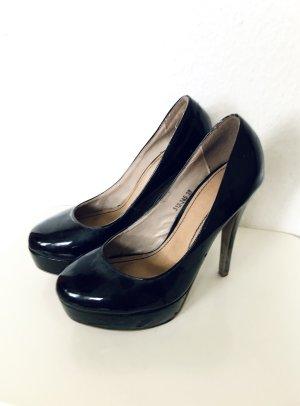 Sehr schöne schwarze lack High Heels