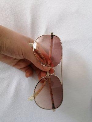 Occhiale bianco sporco-rosa pallido