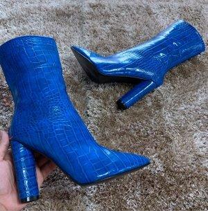 Ocieplane botki stalowy niebieski