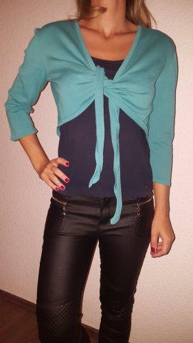 Blue Motion Sweter bez rękawów z cienkiej dzianiny chabrowy