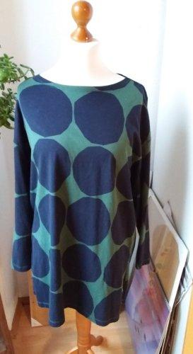 Marimekko Tunic Dress dark blue-dark green cotton