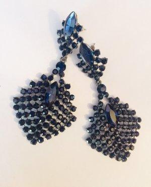 Asos Statement Earrings silver-colored-dark blue