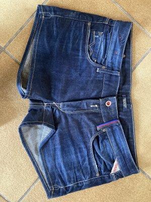 Replay High-Waist-Shorts blue