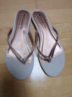 Tamaris Flip-Flop Sandals rose-gold-coloured