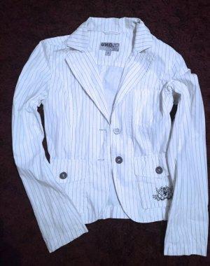 100% Fashion Blazer court blanc-noir