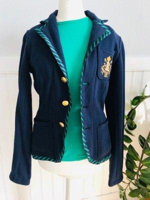 Lauren by Ralph Lauren Sweat Blazer dark blue-green cotton