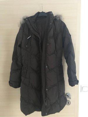 Down Coat dark brown