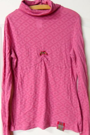 Blutsgeschwister Pull-over à col roulé rose coton