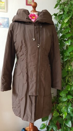 Sandra Pabst Quilted Coat brown-dark brown cotton