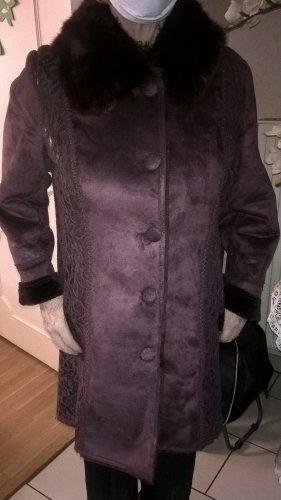 Alfredo Pauly Cappotto in eco pelliccia viola scuro Poliestere