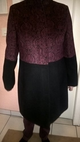 Alfredo Pauly Winter Coat bordeaux-black polyester