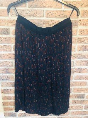 Plisowana spódnica brązowo-fioletowy-ciemnoniebieski