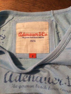 Adenauer & Co Pull tricoté bleu azur tissu mixte