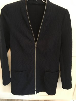 Knitted Coat blue polyester